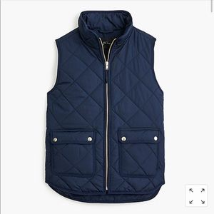 J Crew women's excursion vest navy blue brand new